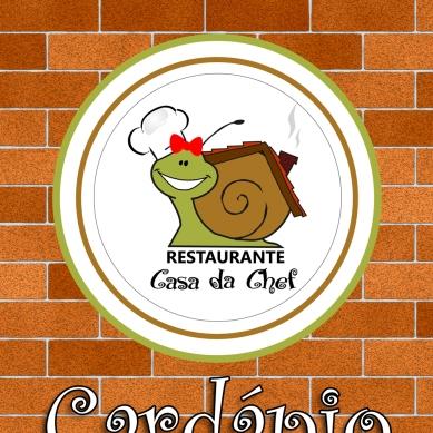 Capa do cardápio para o Restaurante Casa da Chef.