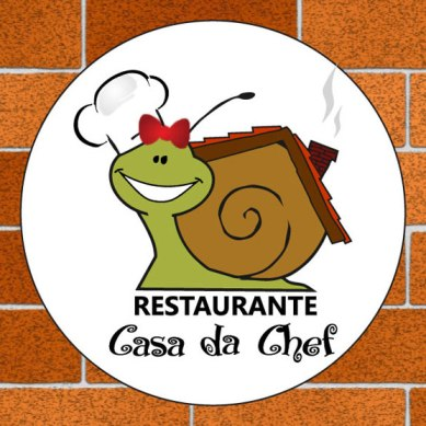Programação visual do cartão de visitas Restaurante Casa da Chef (frente).