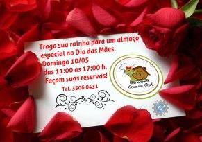 Cartão Comemorativo Dia das Mães para o Restaurante Casa da Chef