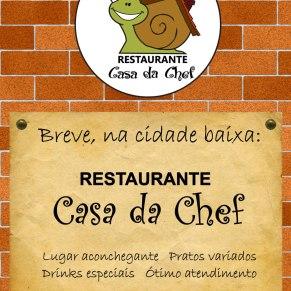 Material de divulgação do Restaurante Casa da Chef