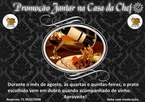 Peça de divulgação Promoção Jantar na Casa da Chef 2016